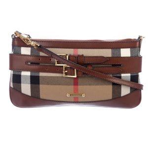 BURBERRY House Check Bridle Peyton Crossbody Bag